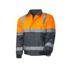 Tru Workwear Pilot Jacket With Tru Reflective Tape - Orange / Navy