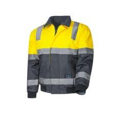 Tru Workwear Pilot Jacket With Tru Reflective Tape - Yellow / Navy