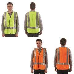 Pro Choice Fluro H Back Safety Vest - Day/Night Use
