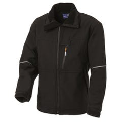 WS Workwear Water Resistant Soft Shell Jacket - Black