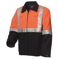 WS Wool Blend Bluey Jacket - Orange / Navy