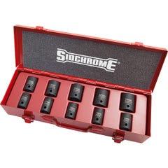 "Sidchrome 10 Piece 1/2""Drive Impact Socket Set, Metric"