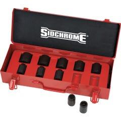 "Sidchrome 10 Piece 1/2"" Drive Impact Socket Set, AF"