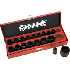 "Sidchrome 18 Piece 1/2""Drive Impact Socket Set, Metric"