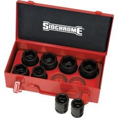 "Sidchrome 8 Piece 3/4"" Drive Impact Socket Set, Metric"