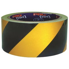 Pro Choice Self Adhesive Hazard Tape Yellow & Black. 30m x 75mm