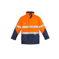 Syzmik Mens Hi Vis Storm Jacket - Orange / Navy
