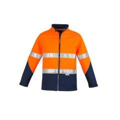 Syzmik Unisex Hi Vis Soft Shell Jacket - Orange / Navy