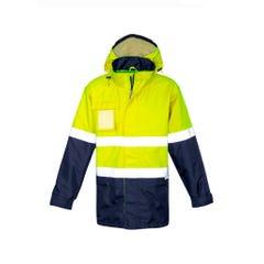 Syzmik Mens Ultralite Waterproof Jacket - Yellow / Navy