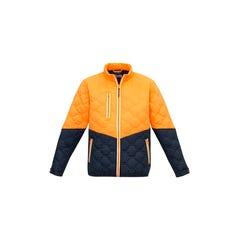 Syzmik Unisex Hexagonal Puffer Jacket - Orange / Navy