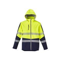 Syzmik Unisex 2 In 1 Stretch Softshell Taped Jacket - Yellow / Navy