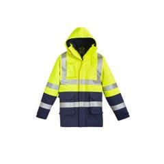 Syzmik Mens FR Arc Rated Anti Static Waterproof Jacket - Yellow / Navy