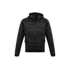 Syzmik Unisex Streetworx Reinforced Knit Hoodie - Gunmetal / Black
