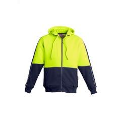 Syzmik Mens Hi Vis Full Zip Hoodie - Yellow / Navy