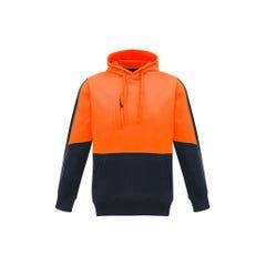 Syzmik Unisex Hi Vis Pullover Hoodie - Orange / Navy