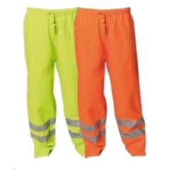 WS Workwear Hi-Vis Waterproof Trousers with Reflective Tape - Orange