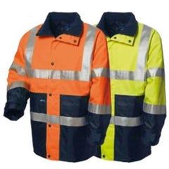 WS Workwear Hi-Vis Thomo Jacket with H-Reflective Tape - Orange / Navy
