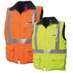 WS Workwear Hi-Vis Reversible Vest with Reflective Tape - Lime