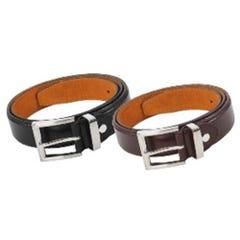 WS Workwear Mens Leather Belt - Black