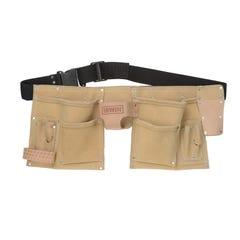 Iwrin 10 Pocket Split Leather Construction Tool Belt