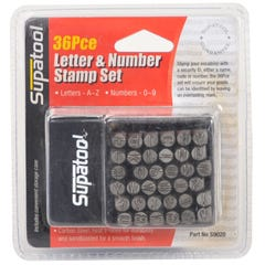 Supatool 36 Piece Letter And Number Punch Set