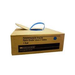 Signode Hand Grade PP Strap STD Polypropylene (PP) Dispenser Box Blue 12mm x 1000m