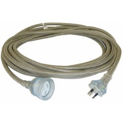 Amplec Braided Ext.lead - 10AMP 20 Metre Moulded Plug & Socket