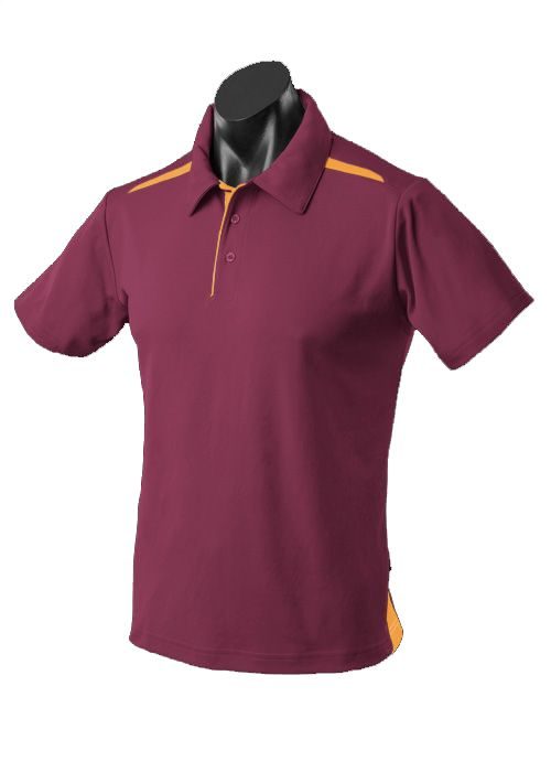 Aussie Pacific PaterSon Polo - Maroon/Gold