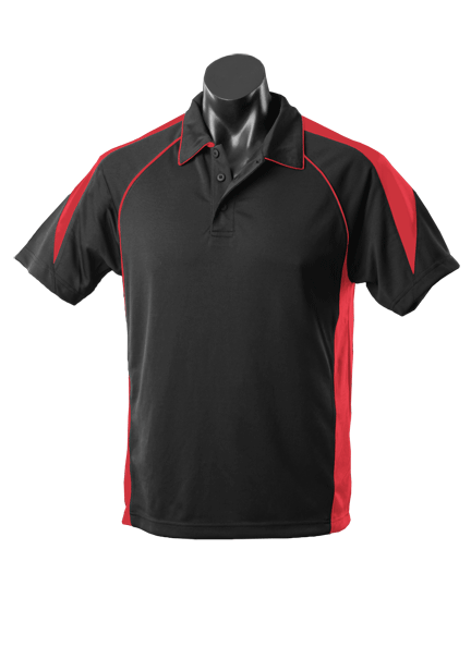 Aussie Pacific Premier Kids Polo - Black/Red