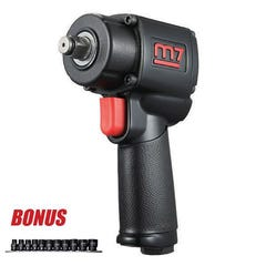 """ITM M7 Impact Wrench, Q-Series, Pistol Style, 1/2"""" Dr, 500 Ft/Lb"""