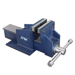ITM Fabricated Steel Bench Vice, Straight Jaw, 100mm