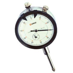 Groz Dlg/0-1  Dial Indicator, 0-1 X. 001, 0-100, Agd2, White Face, Lug Back