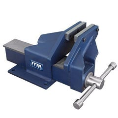 ITM Fabricated Steel Bench Vice, Offset Jaw, 150mm