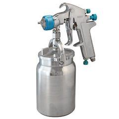 ITM Air Spray Gun Suction Feed, Professional, 1.4mm & 2.0mm Nozzles, 1000Ml Aluminium Pot