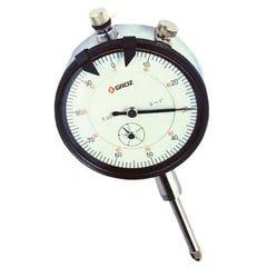 Groz Dlg/5  Dial Indicator, 0-5mm, 0.01mm, 0-100, Agd1, White Face, Lug Back