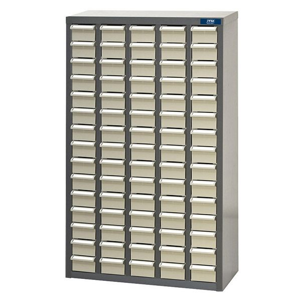 ITM Parts Cabinet Metal with ABS Draws ST1 75 Draws 586W x 22D x 937H