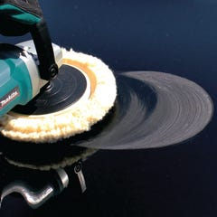 "Makita 7"" Wool Bonnet Buffing Pad, Hook and Loop, Compounding"