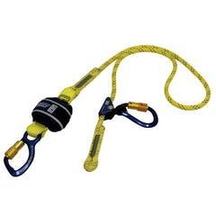 3M DBI-SALA® Force2 Adjustable Shock Absorbing Kernmantle Rope Lanyard - Single Tail Z11206159R, Yellow with black fleck