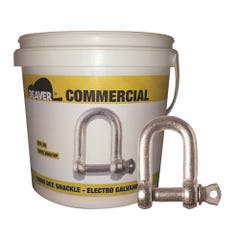Beaver Electro Galvanised Commercial Dee Shackles (Pail)