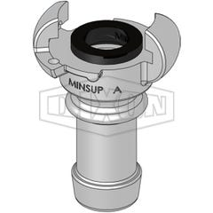 Dixon Minsup A Type Claw Coupling A Hose End SS316 25mm