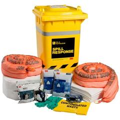3M Oil & Petroleum Sorbent Spill Kit Wheelie Bin - 190L, OSRK-190