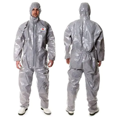 3M Protective Coverall 4570, M, Grey