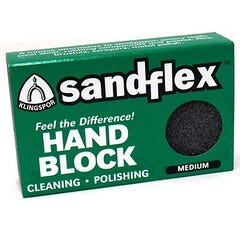 SandFlex Hand Block 75mm x 50mm x 20mm - Medium 120g