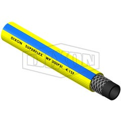 Dixon PVC Superflex General Purpose Air & Water Hose Yellow/Blue 12.5mm x 100m