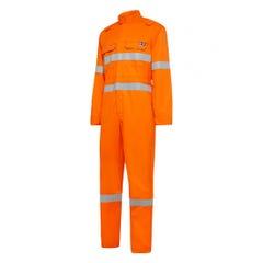 Hard Yakka Shieldtec FR LightWeight Hi Vis Taped Coverall - Orange