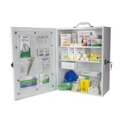 Accidental Health & Safety National Workplace First Aid Kit Metal Wall Mountable Large